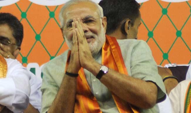 Narendra Modi casts his vote in Gujarat, tweets his selfie