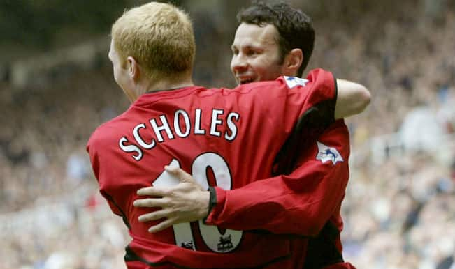 Paul Scholes makes Manchester United return to assist Ryan Giggs