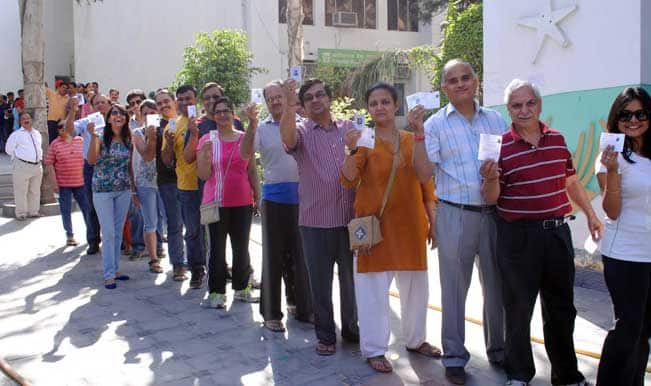 Nearly half of voters cast ballots in West Bengal