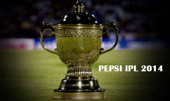 IPL 2014 Points Table, Match Results and Team Standings