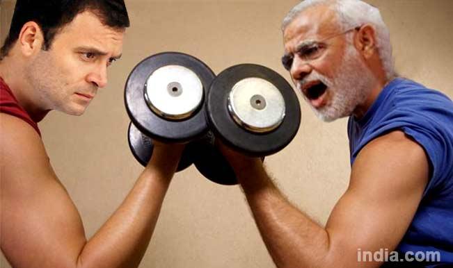 Image result for modi rahul gandhi