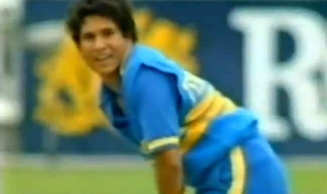 Watch Sachin Tendulkar score his first ever run in ODI cricket
