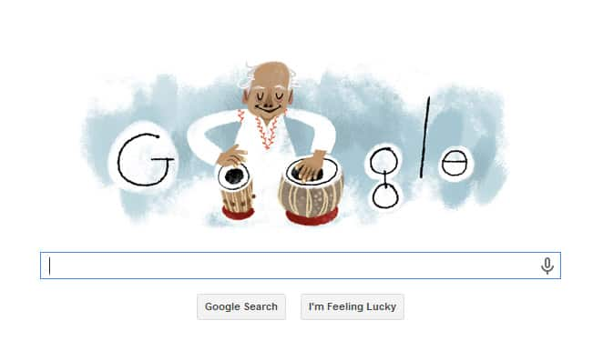 Ustad Alla Rakha gets a Google Doodle to celebrate his 95th birthday