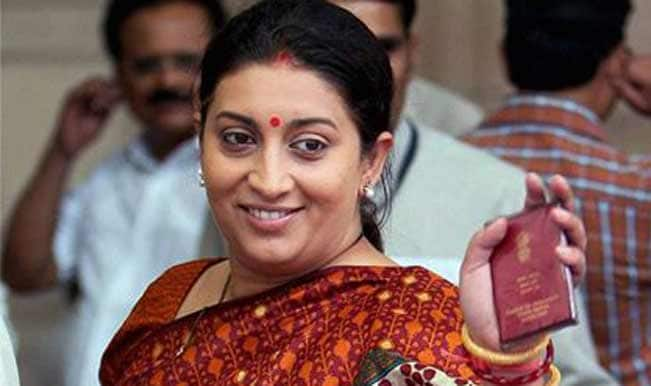 HRD minister Smriti Irani appeals to Delhi University Vice Chancellor to reinstate officials