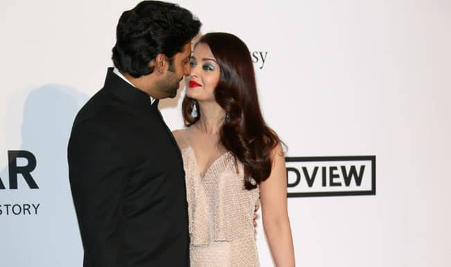 Abhishek Bachchan joins wifey Aishwarya Rai at Cannes 2014, puts an end to divorce speculations