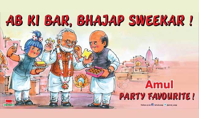 When Amul celebrated 'Ab Ki Baar, Bhajap Sweekar' with Narendra Modi selfie!