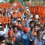 Lok Sabha Election 2014 Results: BJP workers celebrate landslide victory in capital