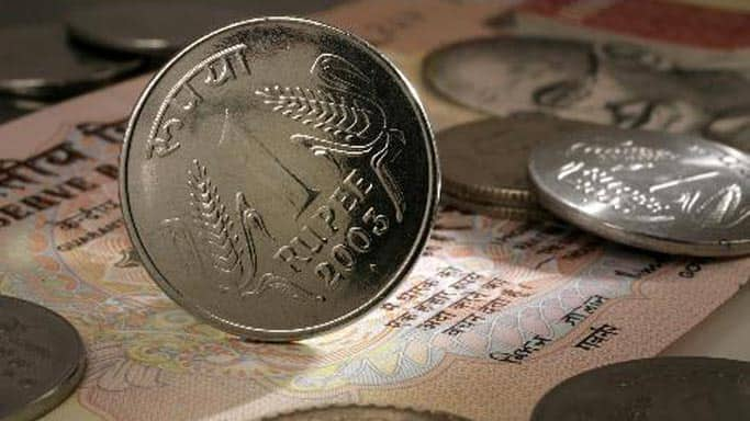 Rupee up 45 paise against dollar in early trade