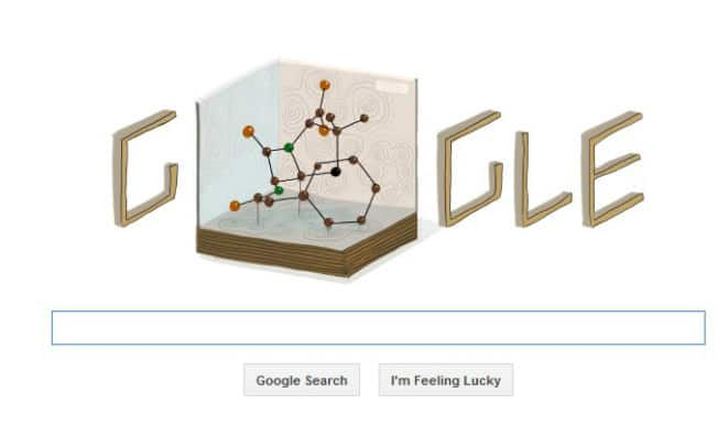 Google doodle celebrates Noble Prize winner biochemist Dorothy Hodgkin's 104th birthday