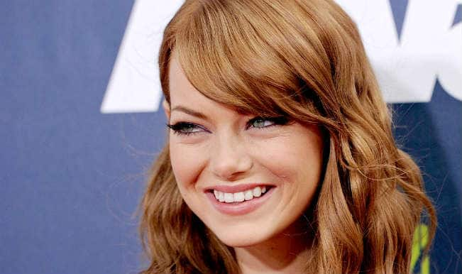 Special safety equipment left Emma Stone bruised