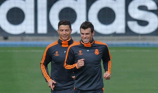 Cristiano Ronaldo and Gareth Bale return to Real Madrid training
