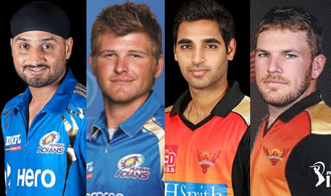 Harbhajan-Singh-(Mumbai-Indians),Corey-Anderson-(Mumbai-Indians),Bhuvneshwar-Kumar-(Sunrisers-Hyderabad),Aaron-Finch-(Sunrisers-Hyderabad)