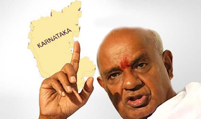 Lok Sabha Elections 2014 Live - Prime Minister H D Devegowda of JD was leading by 19,000 votes in Hassan.