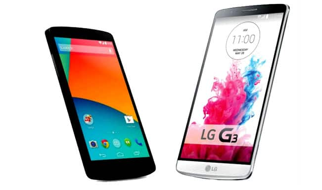 LG G3 or Google Nexus 5: Specs comparison between the giants