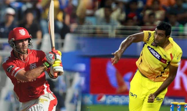 IPL 2014, Qualifier 2, Kings XI Punjab (KXIP) vs Chennai Super Kings (CSK): Glenn Maxwell vs Ravi Ashwin