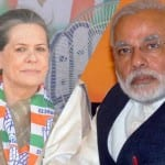 Sonia Gandhi's seeking of a divine intervention to avoid her defeat is a first: Narendra Modi