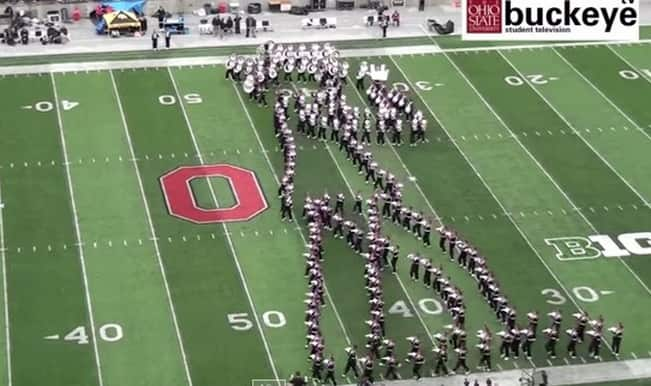 Don't miss: Michael Jackson moonwalks on a football field, thanks to Ohio State Marching Band!