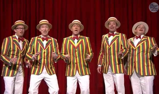 Watch Kevin Spacey and Jimmy Fallon perfom 'Talk Dirty' in barbershop quartet!
