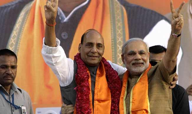 Bharatiya Janata Party leaders meet Narendra Modi, Rajnath Singh