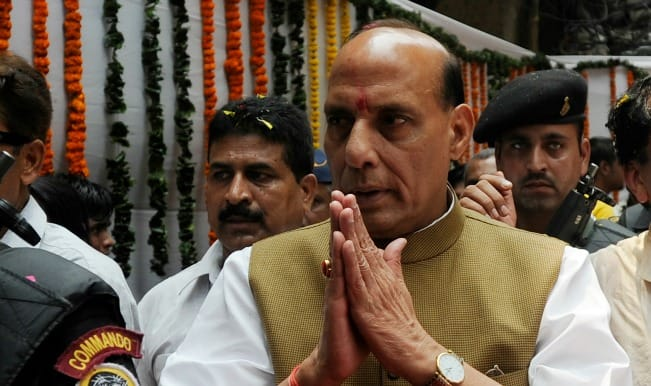 Senior Bharatiya Janata Party leaders call on Rajnath Singh