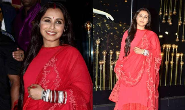 Newly-wed Rani Mukerji makes her first after-marriage appearance