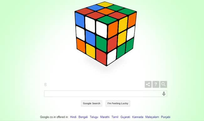 Google commemorates Rubik's Cube's 40th birthday with an interactive doodle: Simple strategies to solve a Rubik's Cube