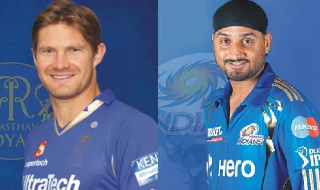 IPL 2014, Mumbai Indians (MI) vs Rajasthan Royals (RR): Harbhajan Singh vs Shane Watson