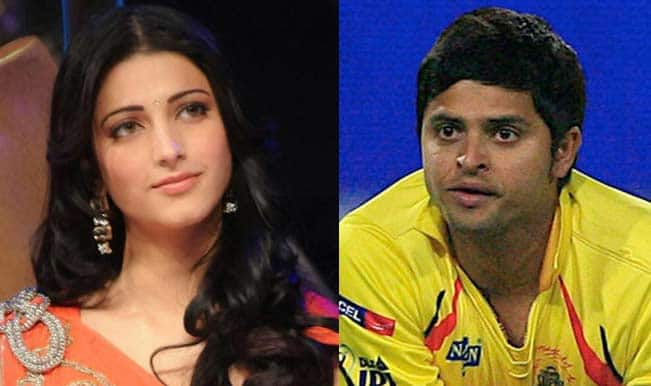 Another Cupid Struck Pair: Is Suresh Raina dating lovely Shruti Hassan?