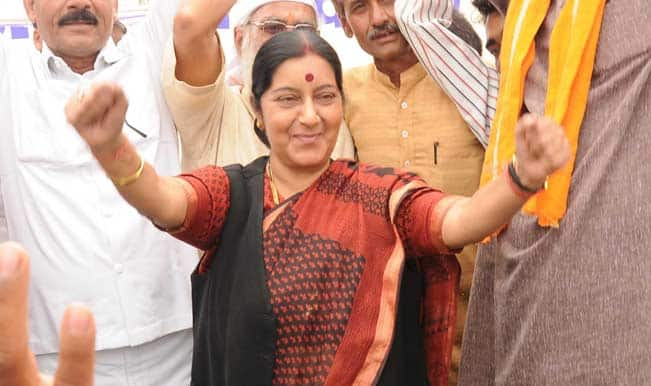 Lok Sabha Elections 2014 Live – Sushma says it is purely a BJP victory