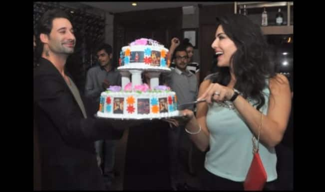 Watch: Sunny Leone's birthday bash on the sets of Tina and Lolo
