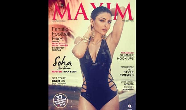 Hotter Than Ever: Soha Ali Khan sizzles on Maxim cover June 2014 – watch video for more pictures!