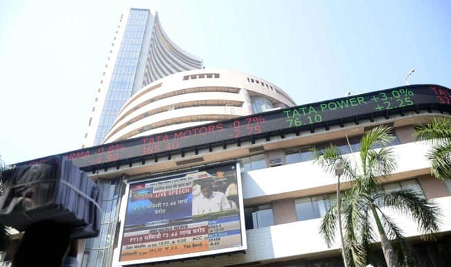Sensex trades nearly 100 points up; metal stocks rise