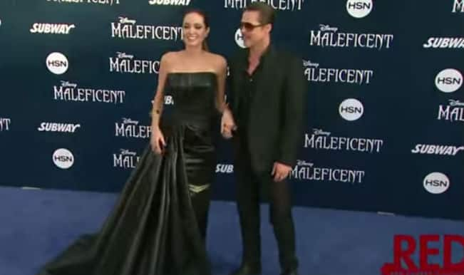 Fashion Check: Angelina Jolie Fashion at Maleficent Premiere in Hollywood (video)