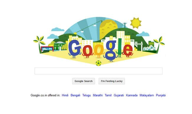 Google joins FIFA World Cup 2014 fever with a splendid doodle!