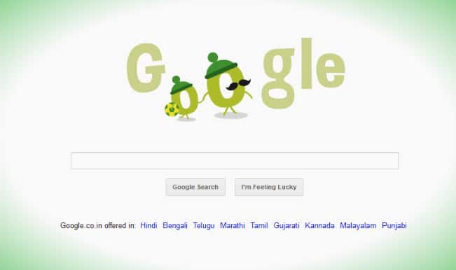 Google doodle celebrates Father's Day alongwith FIFA fever!