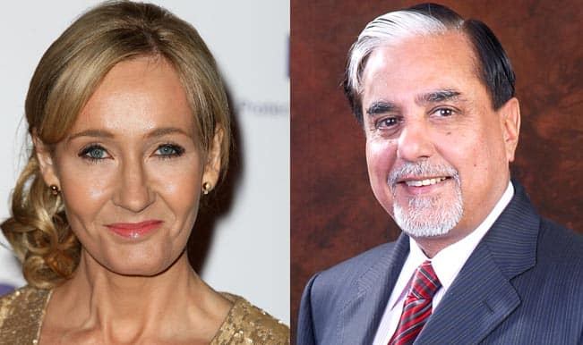 Zee News chairman Subhash Chandra, Harry Potter author J K Rowling to be presented with International Writers Award-2014