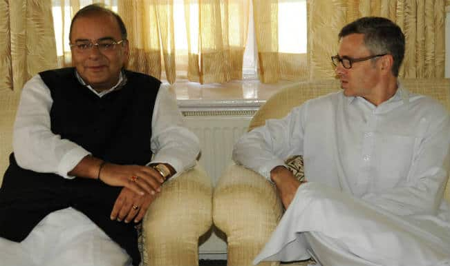 Arun Jaitley has one-on-one meeting with Omar Abdullah