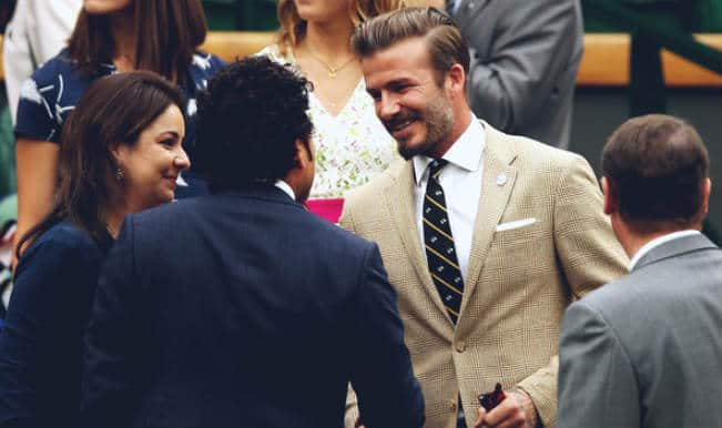 When Cricket God Sachin Tendulkar met Football legend David Beckham!