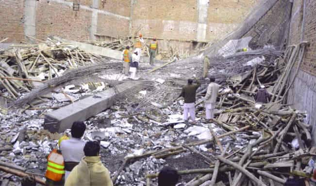 35 injured as underconstruction roof of factory collapses