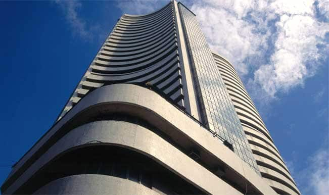 Sensex hits new record high of 25,711.11; Nifty touches 7,683