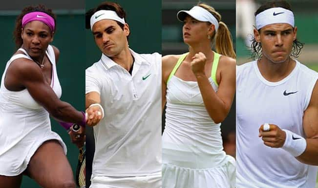 From Left to Right: Serena Williamsn, Roger Federer, Maria Sharapova and Rafael Nadal