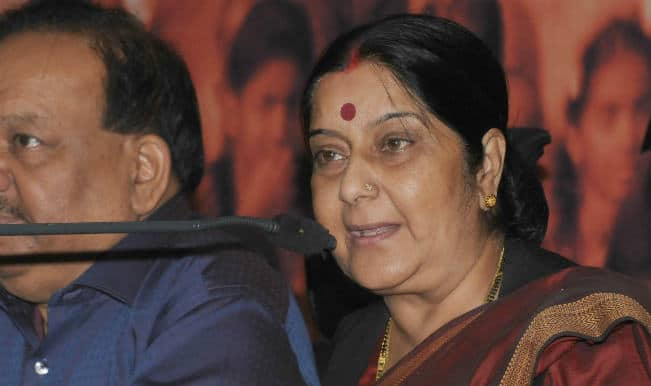 Indians in Iraq safe, says Sushma Swaraj, meets envoys of Gulf region