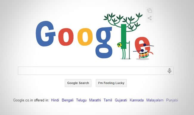 Google comes up with yet another doodle celebrating the Opening ceremony!