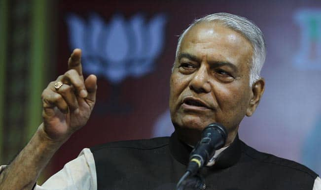Yashwant Sinha walks out of jail
