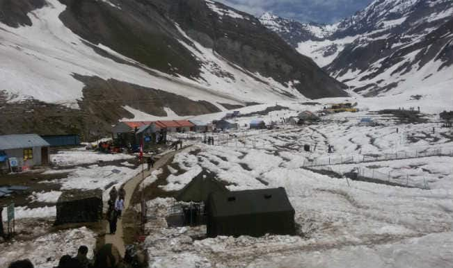 Amarnath Yatra resumes from Baltal, Pahalgam routes