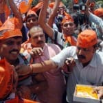 Bharatiya Janata Party workers celebrate over Amit Shah's election as…