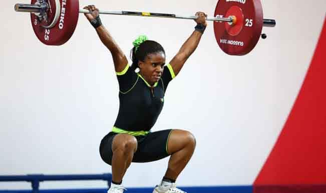 Nigerian weightlifter disqualified after testing positive for a performance enhancing substance