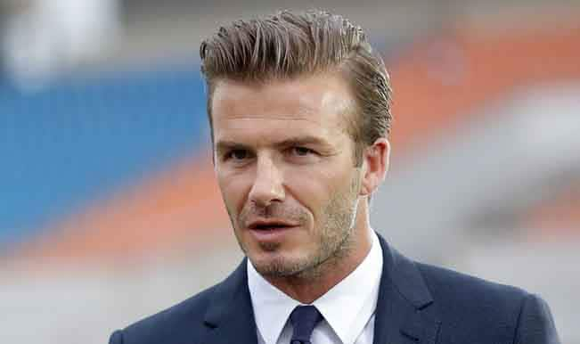 David Beckham voted best celebrity in suit