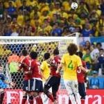 David Luiz stunner sends Brazil into semi-finals