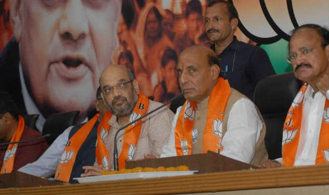 Rajnath Singh congratulates Amit Shah on being appointed as new Bharatiya Janata Party President